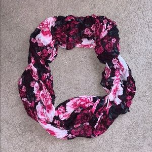 Pink and Black Infinity Scarf